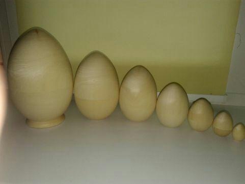 Деревянные заготовки яиц матрешка