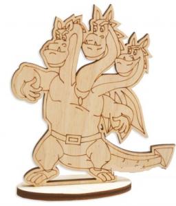 Игрушка из дерева дракон