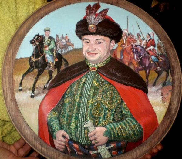 Расписные тарелки с портретом на заказ