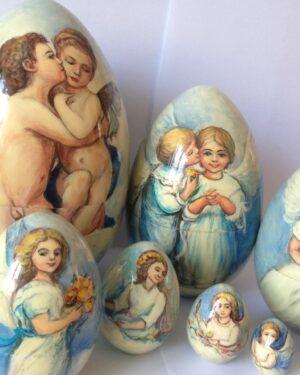 Расписное яйцо ангелочки распродажа