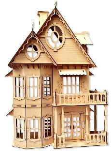Деревянный домик для кукол