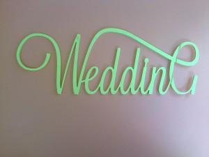 Надпись из дерева на свадьбу