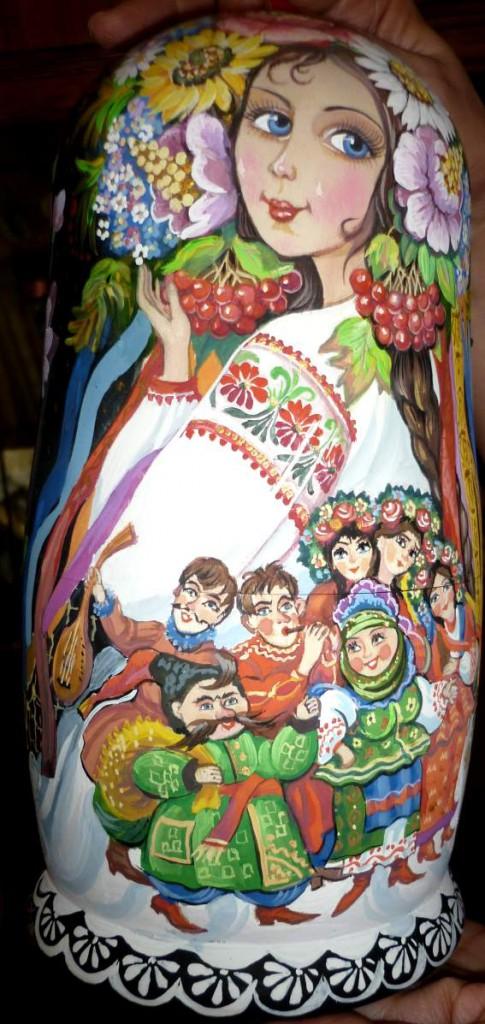 Матрешка Украинка на заказ