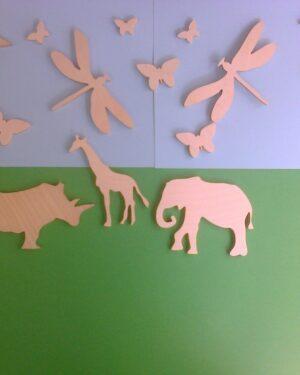 Раскраски для детей животные, животные из дерева