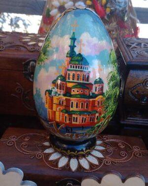 Красивые виды Харькова расписное яйцо