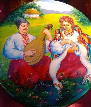 Шкатулка с украинской росписью