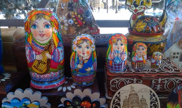 Украинские сувениры матрешки
