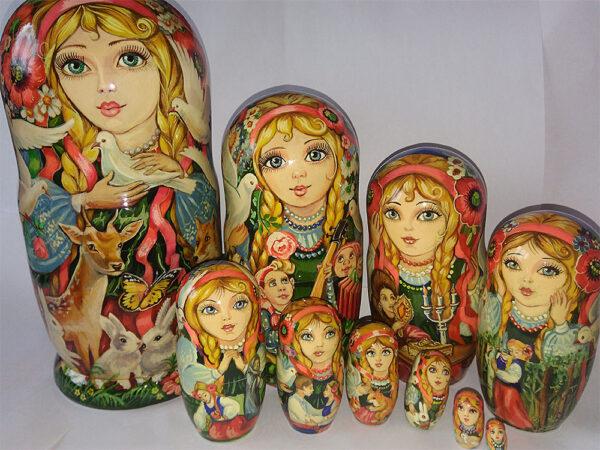 Украинская матрешка Белоснежка