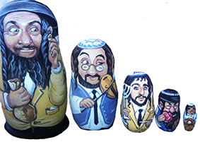 Матрешка еврейчик эксклюзивный подарок на еврейский Новый год